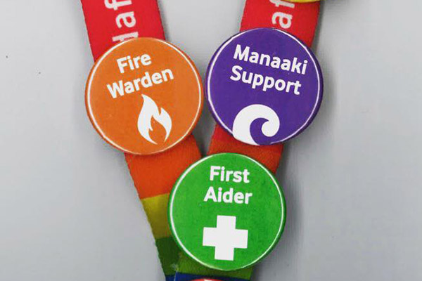 Photo of Manaaki Support Network badge