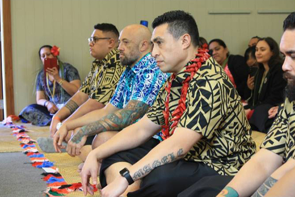 Photo of staff in Pacific cultural celebration