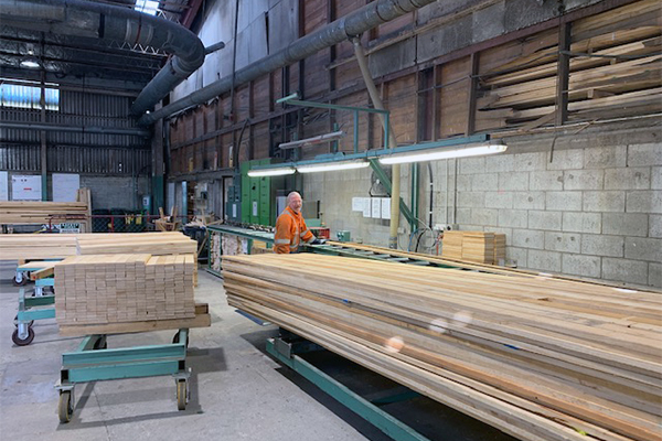 photo of lumber in sawmill